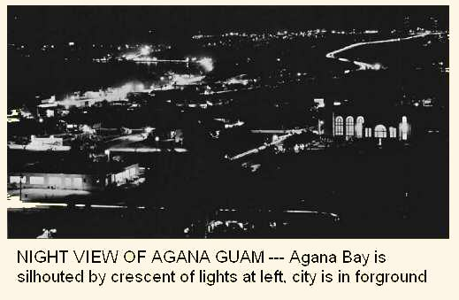 Night view of Agana and its bay